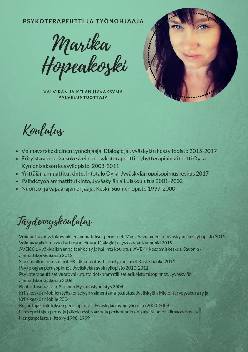 UnelmaRatkaisu/ Marika Hopeakoski